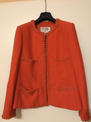 Chanel Tweed blazer donker oranje
