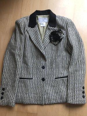 Chanel Blazer de lana crema-negro Lana