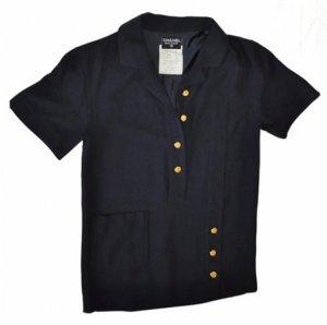 Chanel Bluse mit Goldknöpfen