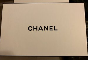 Chanel Borsa da shopping bianco-nero