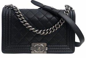 Chanel Crossbody bag black-silver-colored