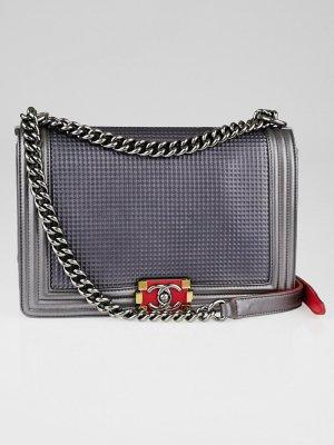 Chanel Sac bandoulière gris cuir