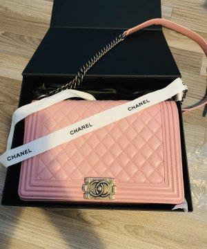 Chanel Sac à main or rose-rose cuir