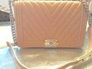 Chanel Handtas rosé Leer