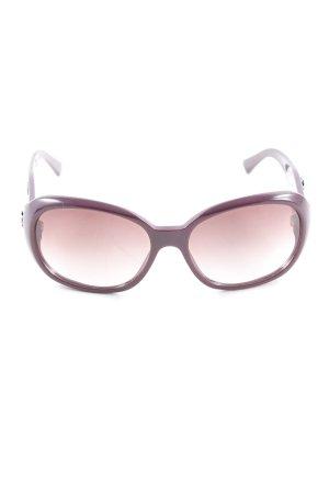 Chanel Brille brombeerrot-schwarz Elegant