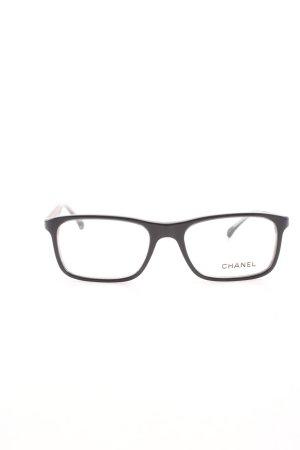 Chanel Brille schwarz Schriftzug gedruckt Business-Look