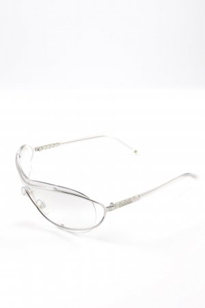 Chanel Gafas color plata estilo extravagante