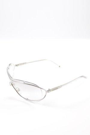 Chanel Occhiale argento stile stravagante