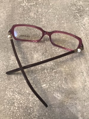 Chanel Glasses magenta-bordeaux synthetic material
