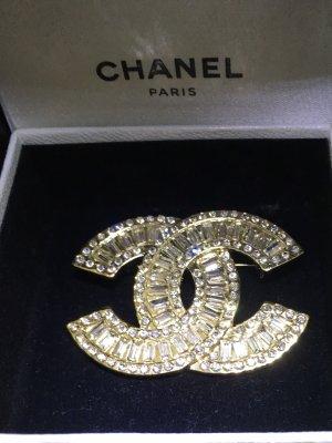 Chanel Broche goud-zilver