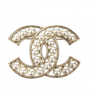 Chanel Brooch gold-colored-oatmeal