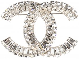 Chanel Brooch silver-colored