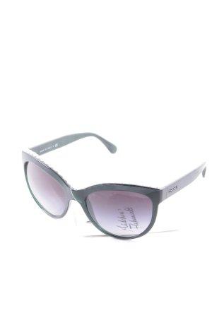 Chanel Butterfly Brille dunkelgrün-weiß Eleganz-Look