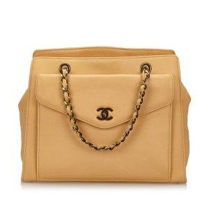 Chanel Calf Leather Chain Handbag