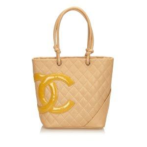 Chanel Borsa larga beige Pelle