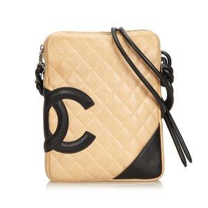 Chanel Sac bandoulière beige cuir