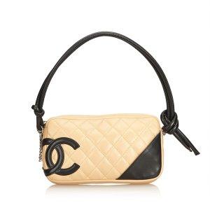 Chanel Sac à main beige cuir