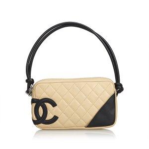 Chanel Handtas wit Leer