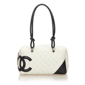 Chanel Sac porté épaule blanc cuir