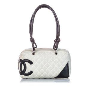 Chanel Borsa a tracolla bianco Pelle