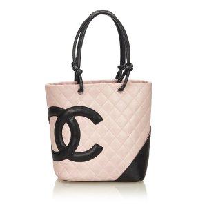 Chanel Bolso de compra rosa claro Cuero