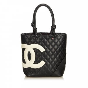 Chanel Borsa larga nero Pelle
