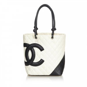 Chanel Tote wit Leer