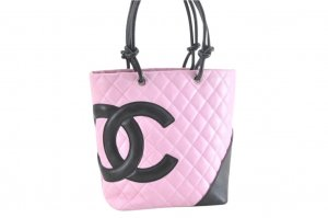 Chanel Cambon pink leather