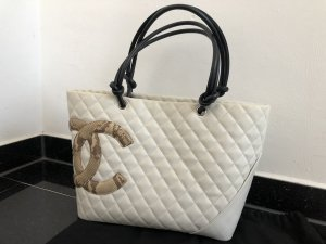 Chanel cambon shopper creme phyton
