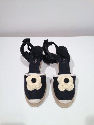 Chanel CAMELIA Espadrilles WEDGES schwarz / NEU