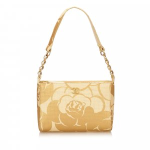 Chanel Camelia Straw Shoulder Bag