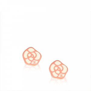Chanel Camellia Clip On Earrings