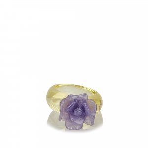 Chanel Camellia Glass Ring