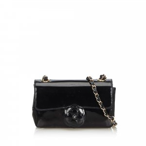 Chanel Camellia Patent Leather Crossbody. Bag