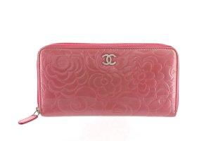 Chanel Portafogli rosa pallido Finta pelle