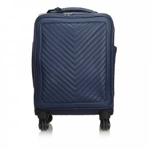 Chanel Travel Bag blue leather