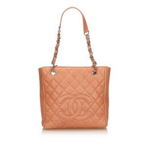 Chanel Borsa larga rosa pallido Pelle