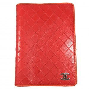 Chanel CC Agenda Leder Orange Rot