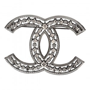 Chanel Broche color plata metal
