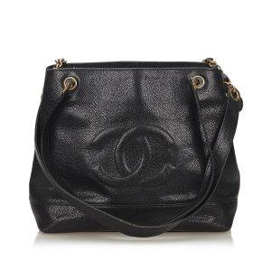 Chanel CC Caviar Leather Shoulder Bag