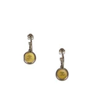 Chanel CC Drop Push Back Earrings