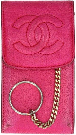 Chanel Minibolso rosa Cuero