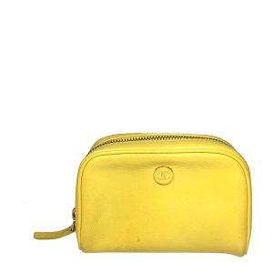 Chanel Minitasje geel-beige Leer