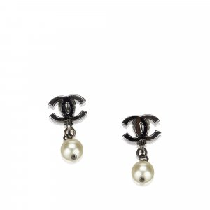 Chanel Earring silver-colored metal