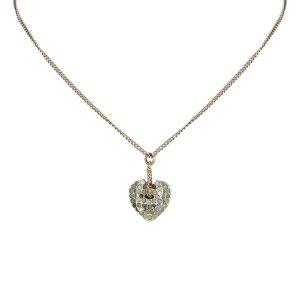 Chanel CC Heart Rhinestone Necklace