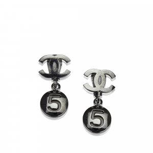 Chanel CC No. 5 Drop Earrings