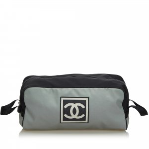 Chanel Pouch Bag light grey nylon