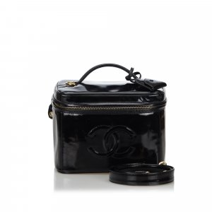 Chanel CC Patent Leather 2 Way Vanity Bag