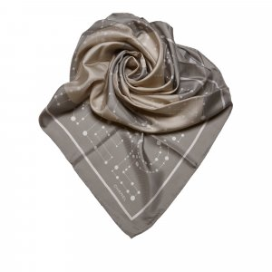 Chanel CC Patterned Silk Scarf