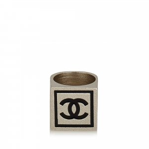 Chanel CC Silver-Tone Ring